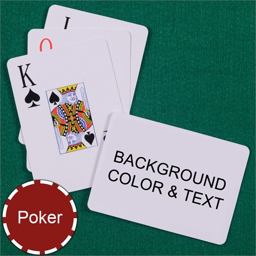 My Own Poker Jumbo Index Landscape Background Color & Text Playing Cards