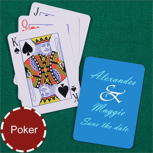 My Own Wedding Message Poker Size Standard Index Playing Cards