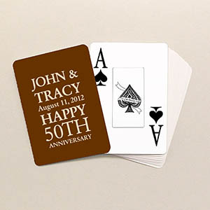 Anniversary Poker Size Personalized Jumbo Index