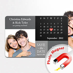 Personalized Fridge Large Calendar Save The Date Photo Magnet - Save the date magnet templates