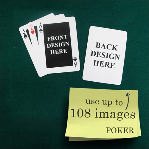 Poker Size Classic Personalized Message Custom 2 Sides