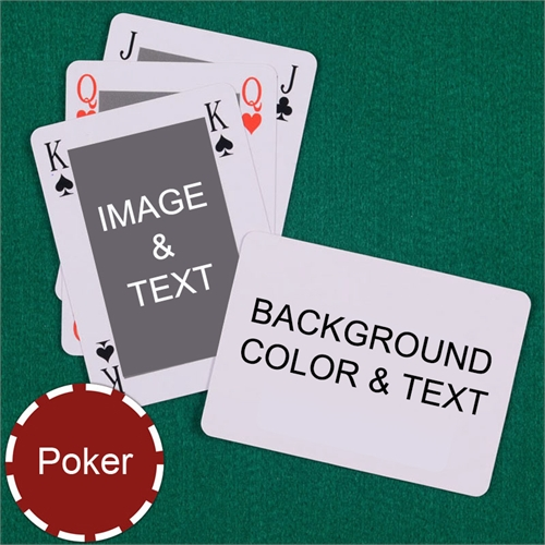 My Own Poker Size Classic Bridge Style Personalized Message Custom 2 Sides Landscape Back Playing Cards