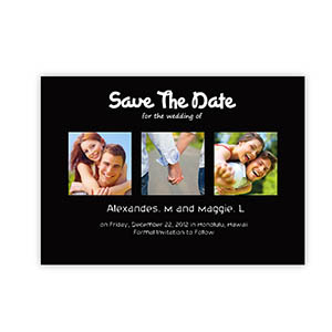 Create Your Own Save The Date Cards, Puppy Love Black