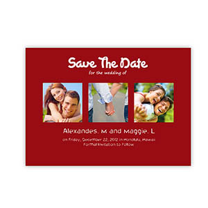 Save the Date Cards, Puppy Love Red