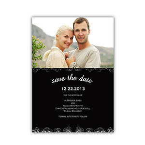 create your own save the date cards black magical day