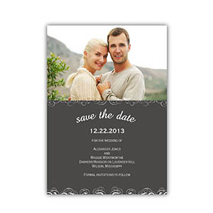 Create Your Own Save The Date Cards, Grey Magical Day