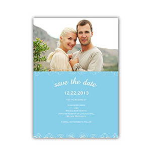 Create Cards For Save The Date, Blue Magical Day