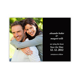 Create Your Own Marriage Announcements, Black Invitations
