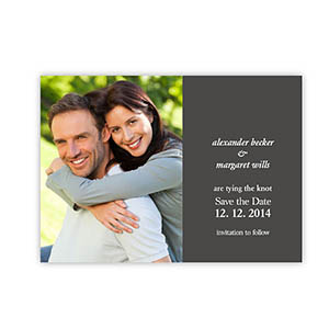 Create Your Own Marriage Announcements, Grey Invitations
