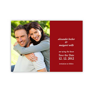 Create Your Own Marriage Announcements, Red Invitations