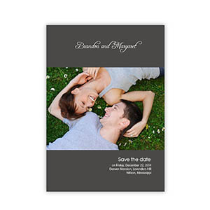 Create Your Own Marriage Announcements, My Words Grey Invitations