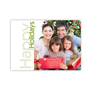 Create Your Own Green Happy Holidays Invitations