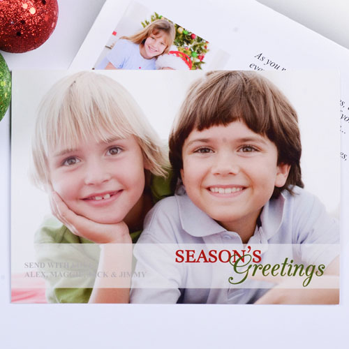 Create Your Own Colorful Season's Greetings Photo Cards Invitations