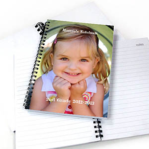 Create Your Own Full Photo Two Title Notebook