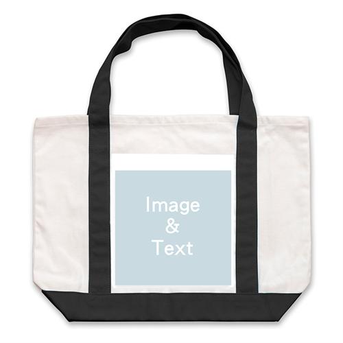 Classic Photo Personalized Tote Bag, Black