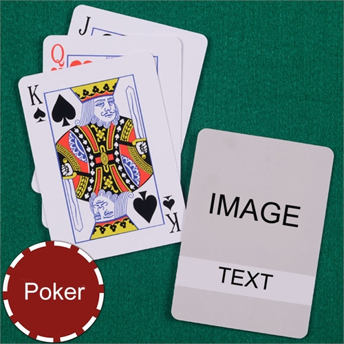 Personalized Poker Transparent Standard Index Playing Cards