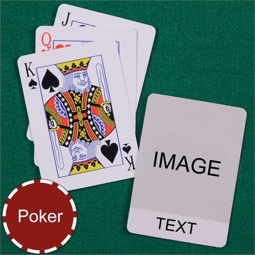 Personalized Poker Classic Transparent Standard Index Playing Cards