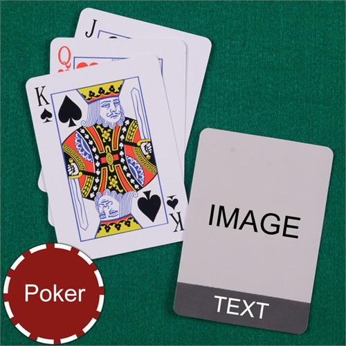 Personalized Poker Size Cool Grey Standard Index Playing Cards