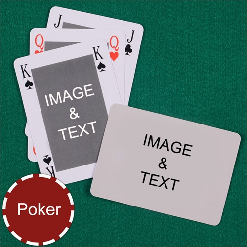 Personalized Poker Classic Custom 2 Side Landscape Playing Cards