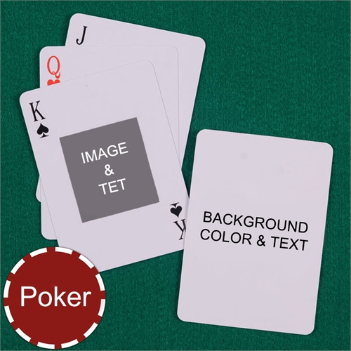 Poker Centre Portrait Custom 2 Side Message Playing Cards
