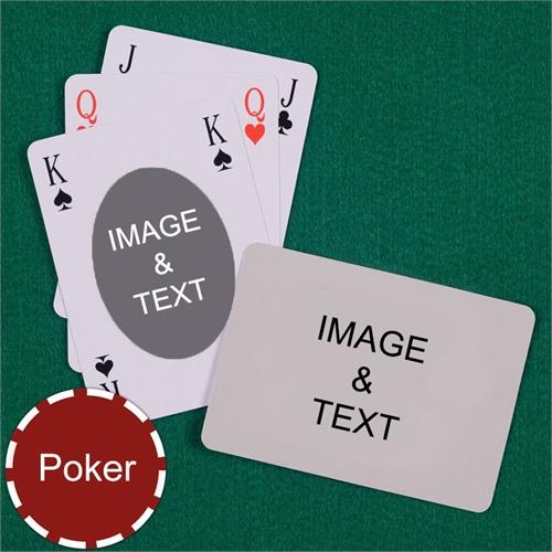Poker Size Ovate Bridge Style Custom 2 Sides Landscape Back Playing Cards