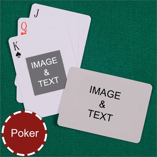 Poker Centre Portrait Custom 2 Side Landscape Playing Cards