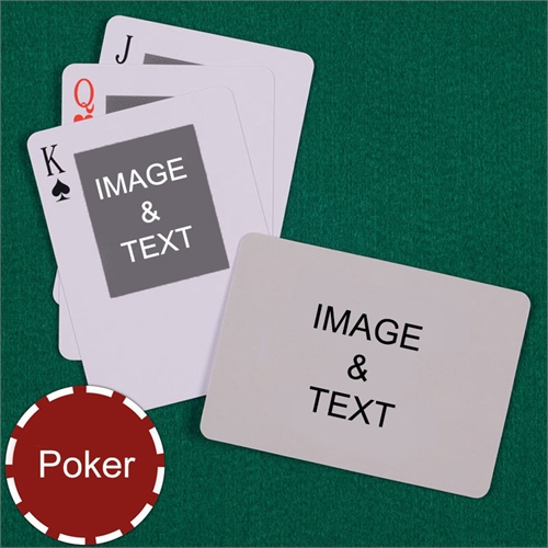 Poker Size Top Portrait Photo Custom 2 Sides Landscape Back