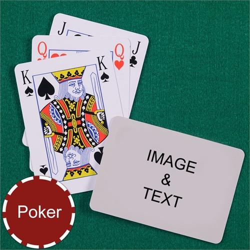 Personalized Poker Size Bridge Style Landscape Playing Cards