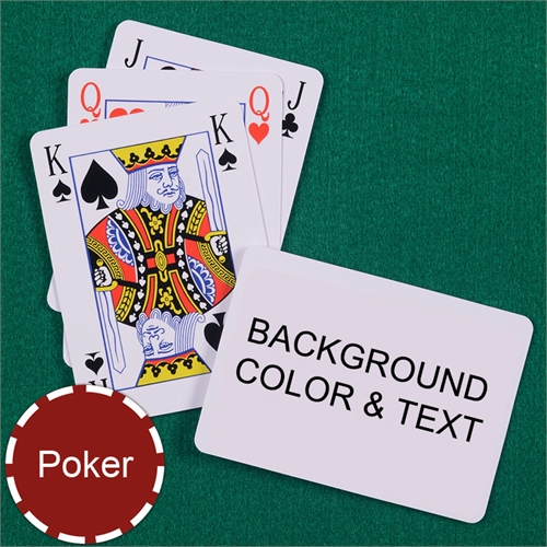 Personalized Poker Size Bridge Style Landscape Playing Cards