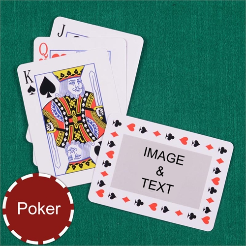 Personalized Poker Size Timeless Standard Index Landscape Playing Cards