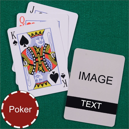 Personalized Poker Size Classic Black Standard Index Playing Cards