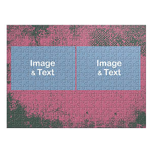 Two Landscape Photos, Hot Pink Texture