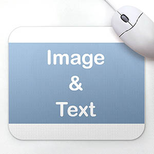 Custom White Background Mousepad
