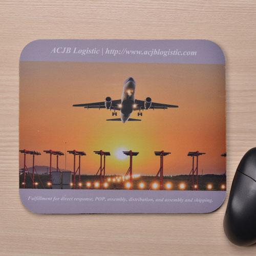 Custom Grey Background Mousepad