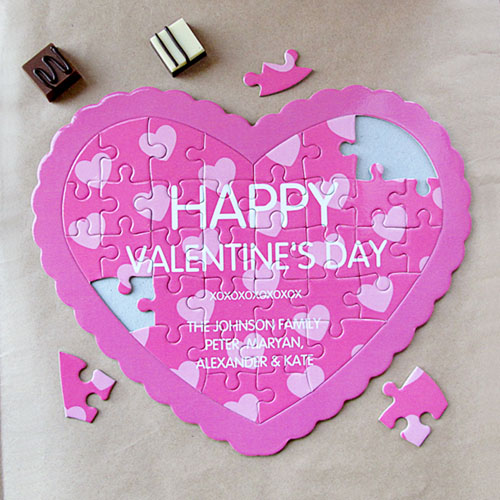 Secret Message Personalized Heart Shape Puzzle