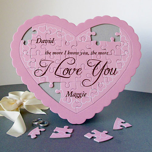 Darling Personalized Heart Shape Puzzle