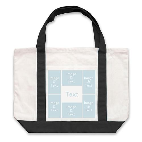 Six White Collage Custom Large Tote Bag