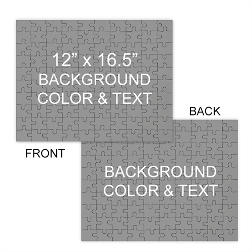 Personalized Custom 2 Sided Background Color & Text 12X16.5, 285 Or 54 Piece Photo Puzzle