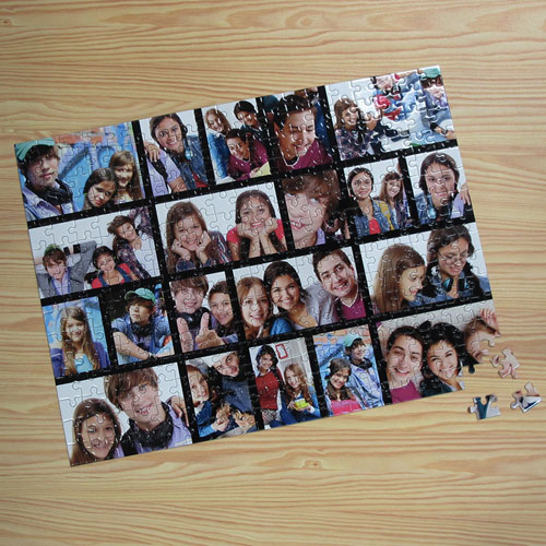 Personalized Facebook Black 20 Collage 12X16.5 Photo Puzzle