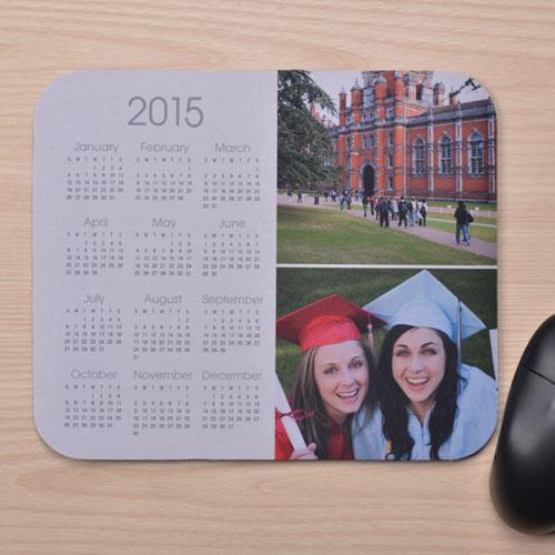 White Two Collage Calendar