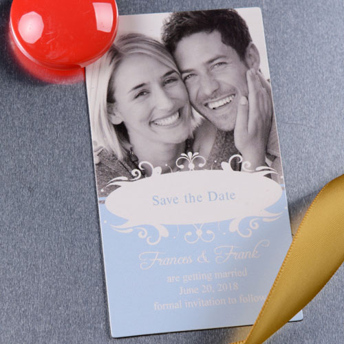 Create Big News Save The Date Photo 2x3.5 Card Size Magnet