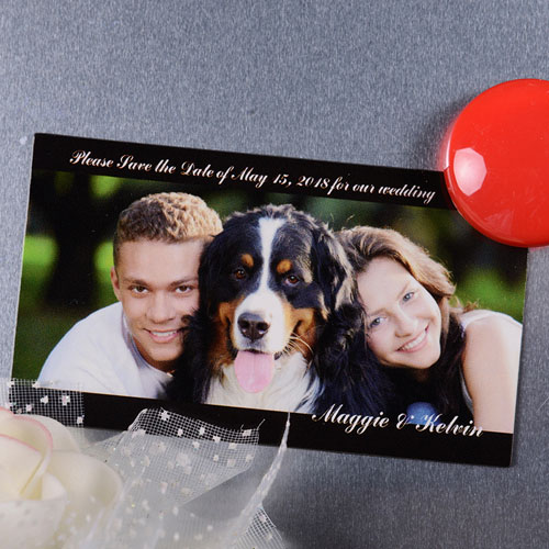 Create Our Memories Save The Date Photo 2x3.5 Card Size Magnet