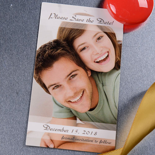 Create Photo Love Save The Date 2x3.5 Card Size Magnet