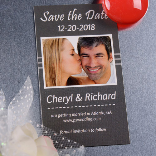 Create Our Season Save The Date Photo 2x3.5 Card Size Magnet