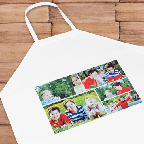 Five Collage Landscape Personalized Adult Apron
