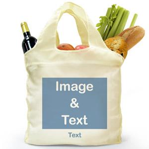 Personalized Folded Shopper Bag, Landscape Image