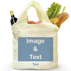 Personalized Folded Shopper Bag, Full Landscape Image