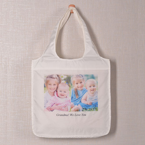 Personalized 2 Collage Shopper Bag, Classic