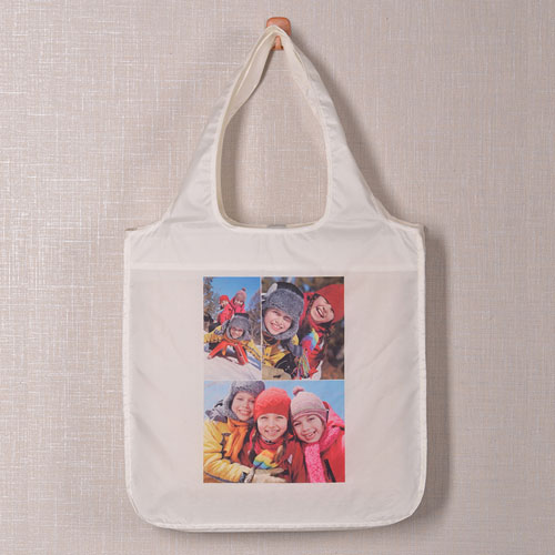 Personalized 3 Collage Shopper Bag, Classic
