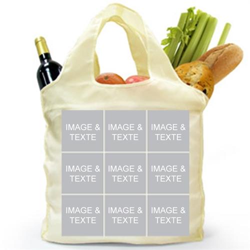 Personalized 9 Collage Folded Shopper Bag, Elegant
